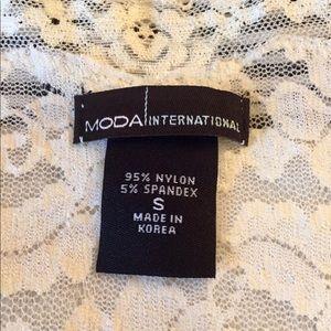 Moda International Tops - NWOT ivory lace top